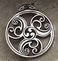Celtic Triscele (#2) - Sacred Triple Spiral