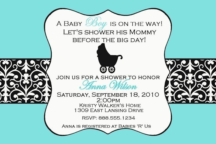 Invitation Wording Diapers And Desserts