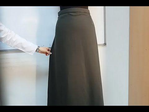 Dikiş Hocam | Kalıp Kullanmadan Pratik Çan Etek Nasıl Dikilir? - Practical Bell Skirt How to Stand? - YouTube