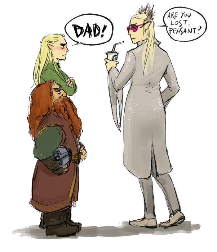 Don't be mean to your son's friend, Thranduil.
