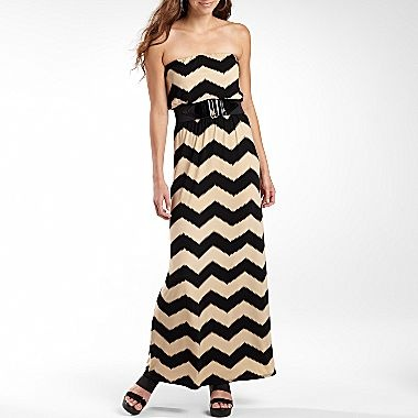 Bisou Bisou® Strapless Maxi Dress - jcpenney
