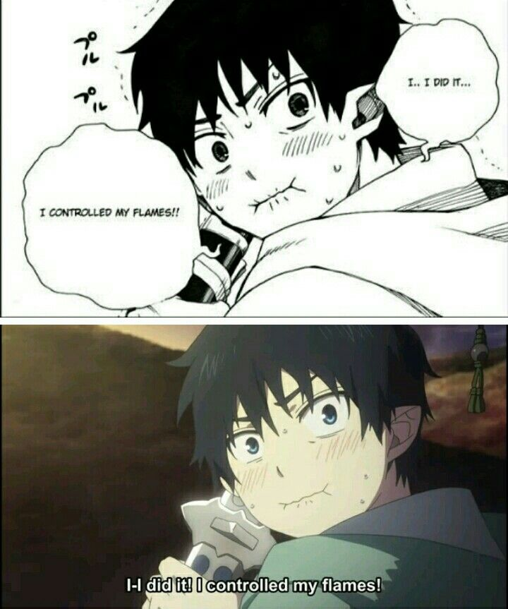 Ao no Exorcist / Rin Okumura / Manga And Anime / Blue Exorcist -omg he looks so cute in both versions!!