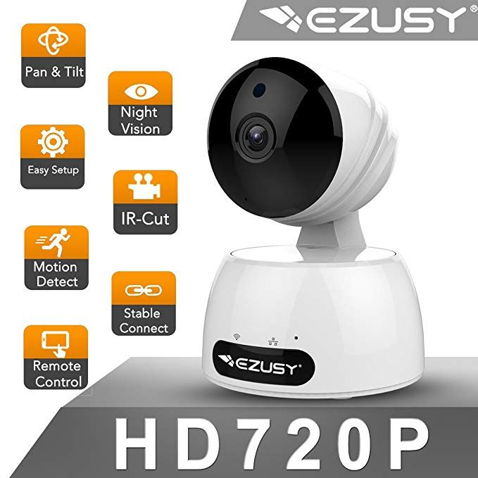 EZUSY 720P Wireless Security Camera, HD WiFi Security