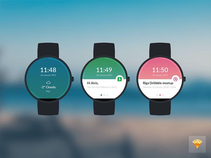Moto 360 Watch Sketch Freebie