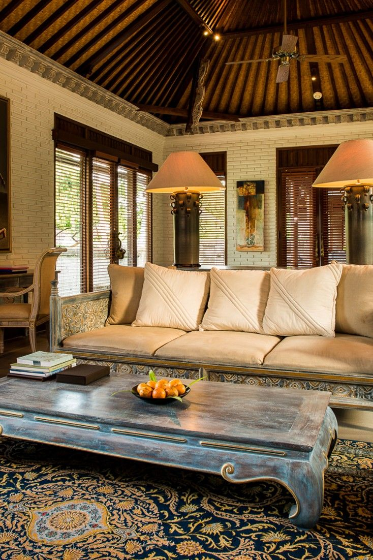 Villas are appointed with traditional furniture that is stylish and comfortable. #Jetsetter