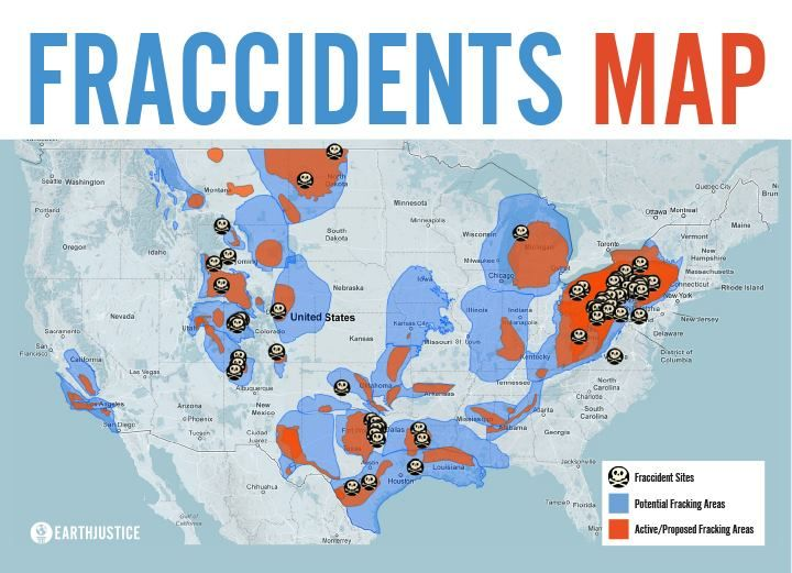 "FRACCIDENTS: Contrary to the oil & gas industry's claim that fracking is harmless and safe, there have been numerous documented ""fraccidents"" linked to poisoned drinking water, polluted air, mysterious animal deaths, and explosions. http://earthjustice.org/features/campaigns/fracking-across-the-united-states"