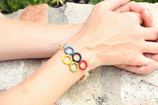 Olympic Rings Bracelet using Chain Maille #SYTYC #Challenge #SoYouThinkYoureCrafty