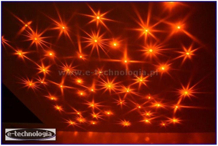 Zestaw Kryształowe Gwiazdy kolorowe gwiazdy na suficie