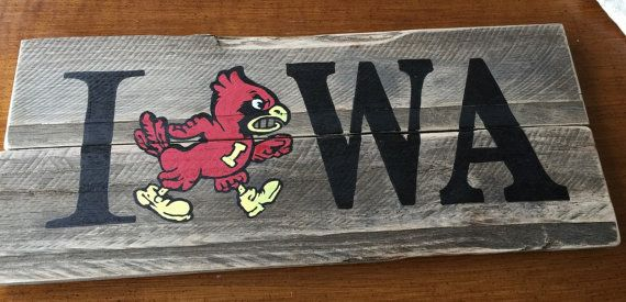 Reclaimed Wood Iowa State Sign by WentGoods on Etsy - Reclaimed Wood Iowa State Sign Iowa, US States And Signs