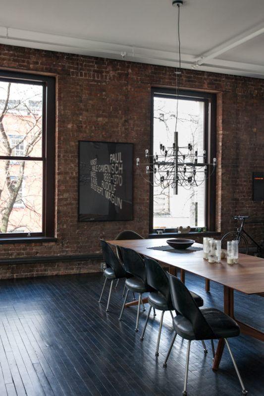 brick wall / dining