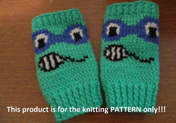 Knitting Pattern: Teenage Mutant Ninja Turtles Fingerless ...