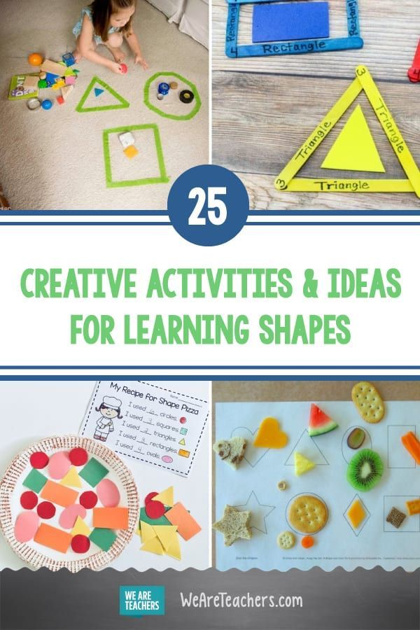 25 Creative Activities And Ideas For Learning Shapes In 2021 Learning Shapes Teaching Shapes Montessori Toddler Activities Fun activities for kindergarten