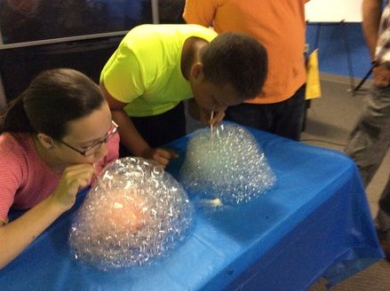 Ooooh! Bubble night! Other games: who can blow the biggest bubble with gum, guess the flavor of different gum,  bubble tag,  pop bubble wrap games,  etc.