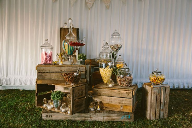 Country styled Candy Bar/ Lolly Buffet. Image: Cavanagh Photography http://cavanaghphotography.com.au