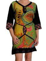 Robe tunique de la marque Swamee. Des vêtements ethniques chics pour un look différent … Rendez-vous sur notre site www.echoppe-du-monde.com pour découvrir notre e-boutique exotique.