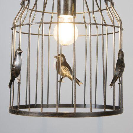 Lampa wisząca Birdcage rdza