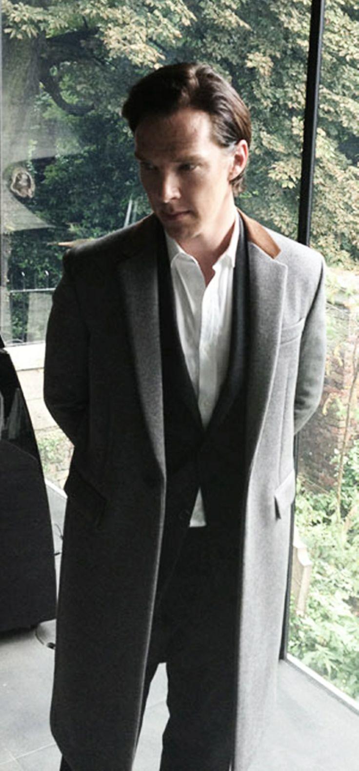 Benedict Cumberbatch. That jacket is amazing.