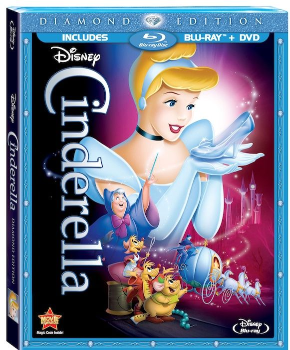 Cinderella Blu Ray and DVD combo pack.