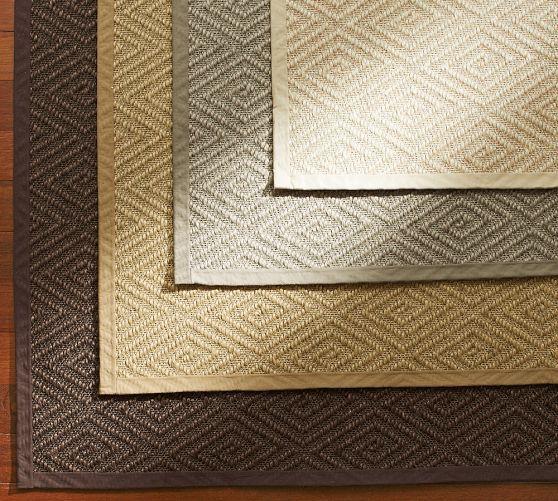 Stark™ Concepts Custom Diamond Sisal Rug   Natural | Pottery Barn  Custom  Sizing