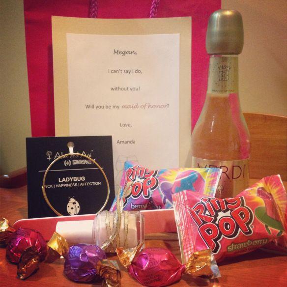 Bridesmaid proposal idea #weddings