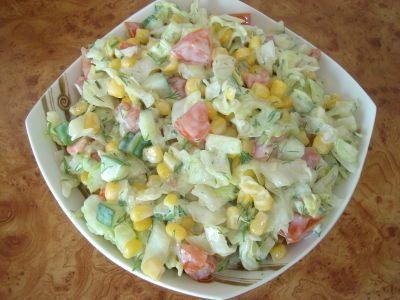 Salatka powstała dzis w ramach sprzatania lodówki :) Super na grill