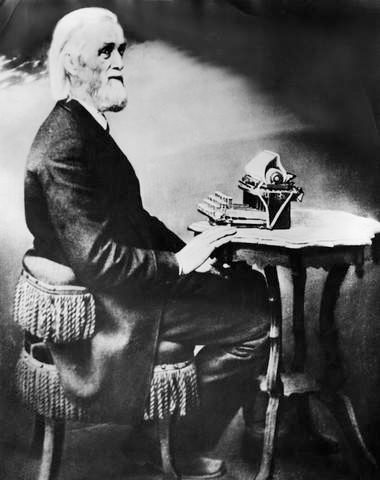 "June 23, 1868 Typewriter patented -- an article from ""Wired"" magazine. . .: 1868 Patent, 1868 Typewriters, Uppfinnar 1868"