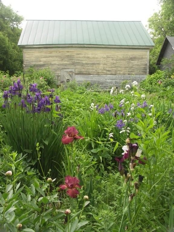 Trouvais - barn c1850Gardens Porches Patios Yards, Quilt, Country Gardens, Grains Sack, Birds Chirping, Iris, Barns C1850, Cottages Gardens Fairyte, Gardens Outdoor