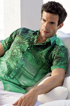 Irish Linen digital Print Shirt