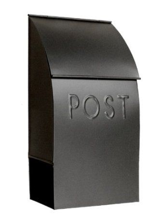 NACH Mb 44902 POST Milano Pointed Mailbox, Black