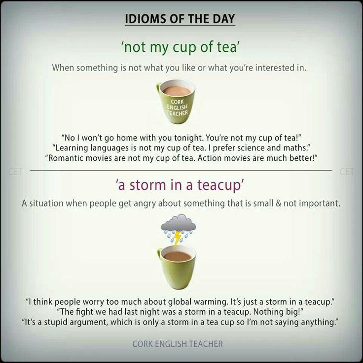 English Idioms - tea