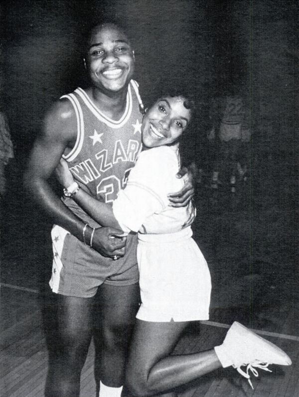 BLACK FASHION - trilligan-island:   2othcentury: Malcolm-Jamal Warner and Phylicia Rashad after a celebrity volleyball/basketball game to benefit the Franciscan Sisters of the Poor, 1987