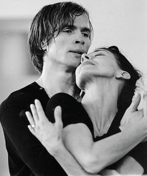 "Nureyev and Fonteyn.  ""Nureyev struggled to explain the intensity of their bond: 'The public was enthralled- I think only because we were enthralled with each other,' he said. 'At the end of Swan Lake, when she left the stage in her great white tutu, I would have followed her to the  end of the world.'""  Read more: http://www.dailymail.co.uk/femail/article-1229174/Were-Margot-Fonteyn-Nureyev-really-lovers-A-riveting-TV-drama-brings-ballets-passionate-pairing-life.html#ixzz1pCxPyjvC"