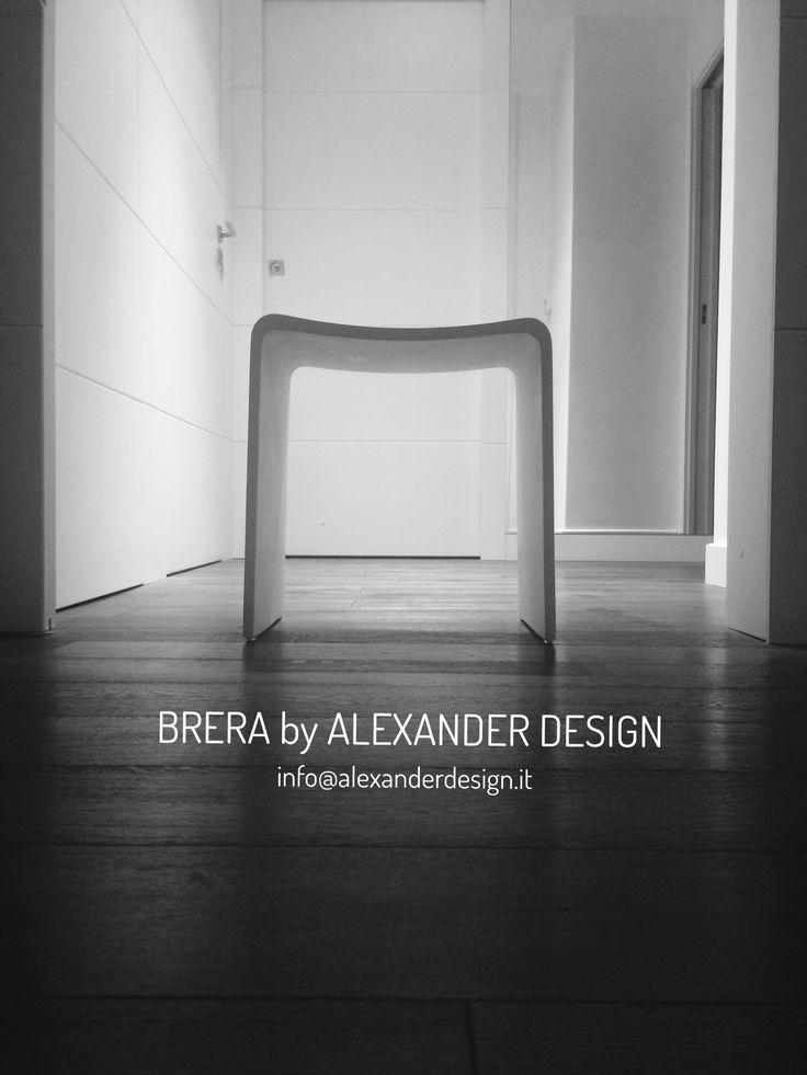 Sgabello white matt BRERA di Alexander Design #luxury #bathroom
