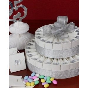2 Tier Silver Anniversary Party Favor Cake Kit