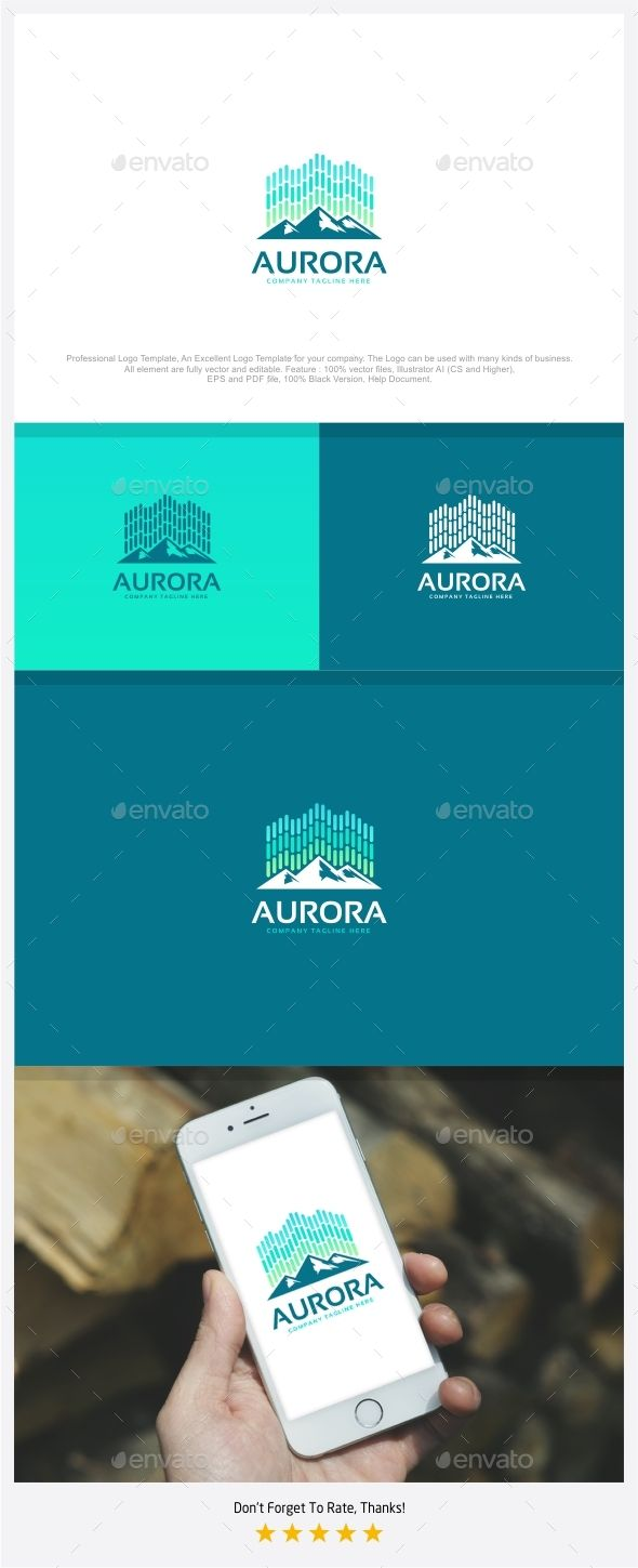 Aurora  North Light Logo — Photoshop PSD #atmosphere #bright • Available here → https://graphicriver.net/item/aurora-north-light-logo/17847502?ref=pxcr