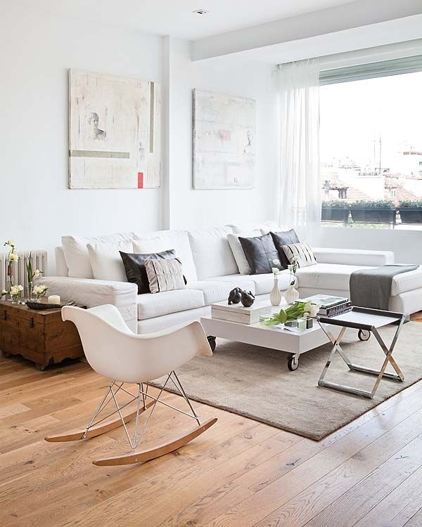 white... living space...