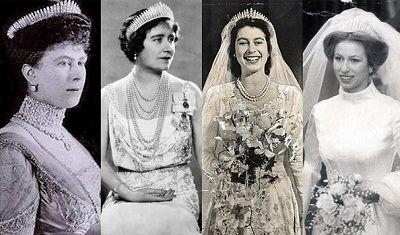 Queen Mary's fringe tiara-Mary, Elizabeth, Elizabeth, Anne