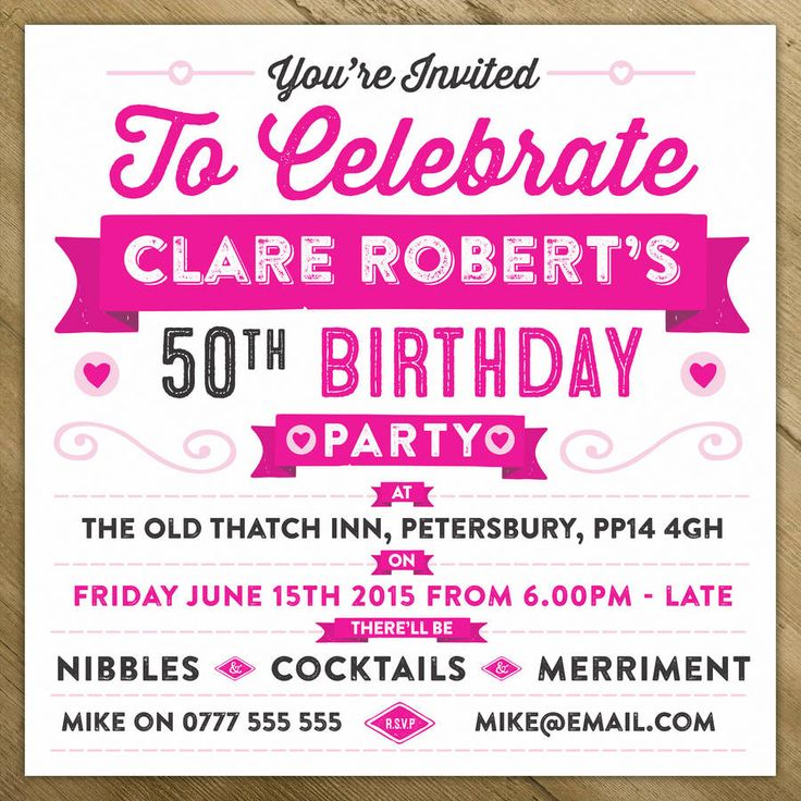 personalised celebration birthday party invite by a is for alphabet | notonthehighstreet.com