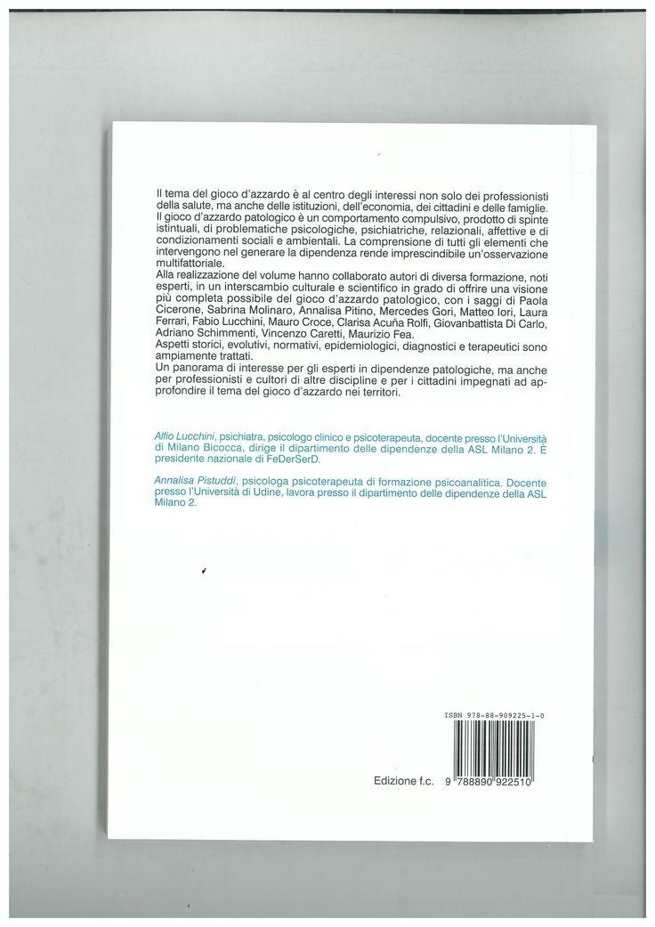 Libro distribuito al congresso Federserd di Roma , ottobre 2013