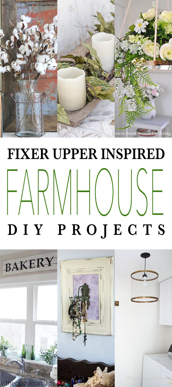 Fixer Upper Inspired Farmhouse DIY Projects - The Cottage Market