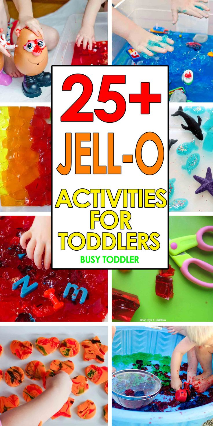 25  Jell-O Activities for Toddlers: Messy sensory activities for toddlers and…