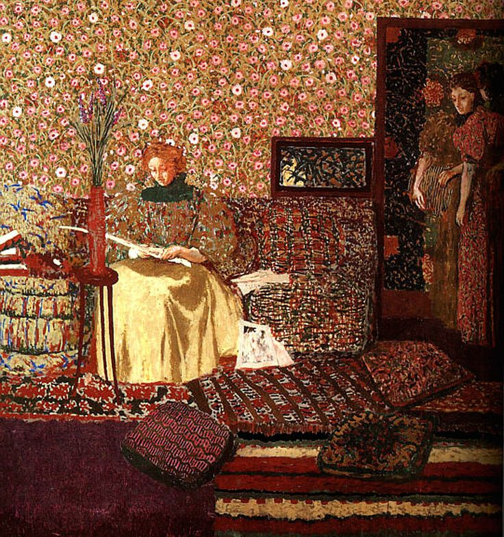 La Lectrice, 1896/ Edouard Vuillard