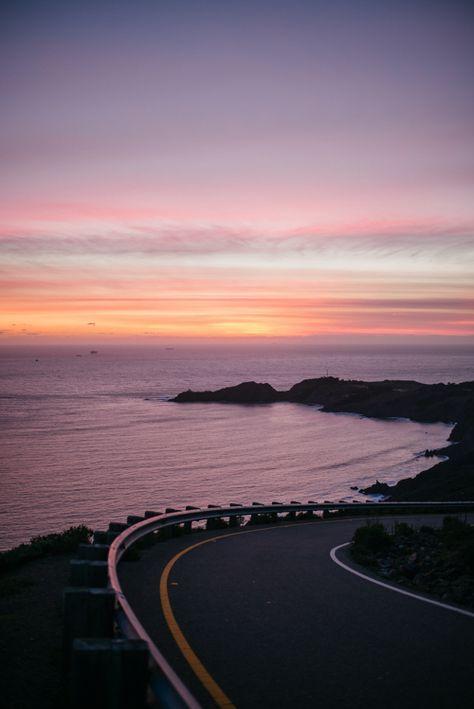 Road to Marin Headlands, San Francisco at Sunset