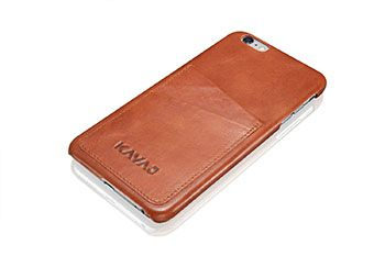 """KAVAJ Leather Case Back Cover """"Tokyo"""" For The iPhone 6 Plus 5.5 Inch Cognac Brown"""