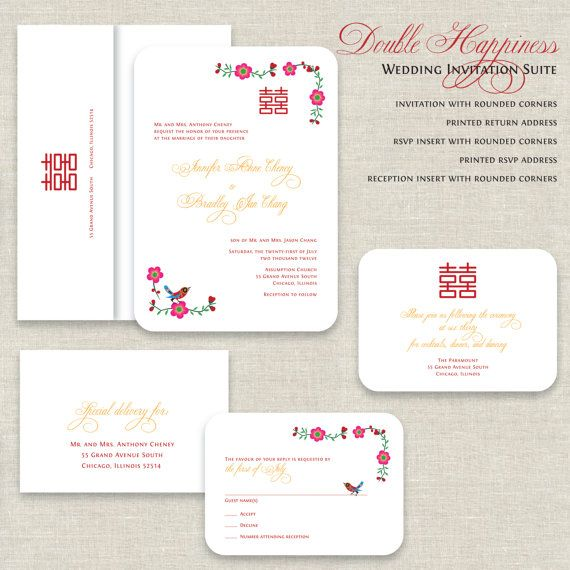 17 Best ideas about Chinese Wedding Invitation – Chinese Wedding Invitation Card Wording