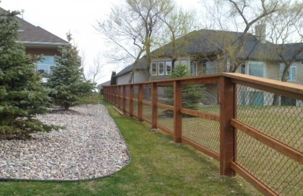 wood and chain link fence - Bing Images