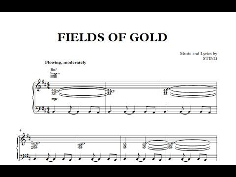 Fields of Gold - Sting [Sheet Music and Midi Download]  Download link: http://goo.gl/dWewbN