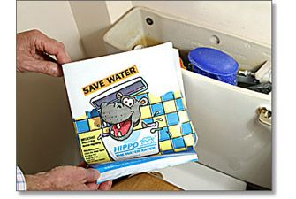 Hippo the water saver - slip one in your toilet cistern and use less water to flush. - £1.99