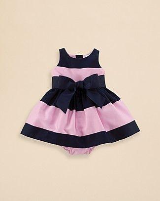 Ralph Lauren Childrenswear Infant Girls' Cotton Sateen Dress - Sizes 3-9 Months   Bloomingdale's