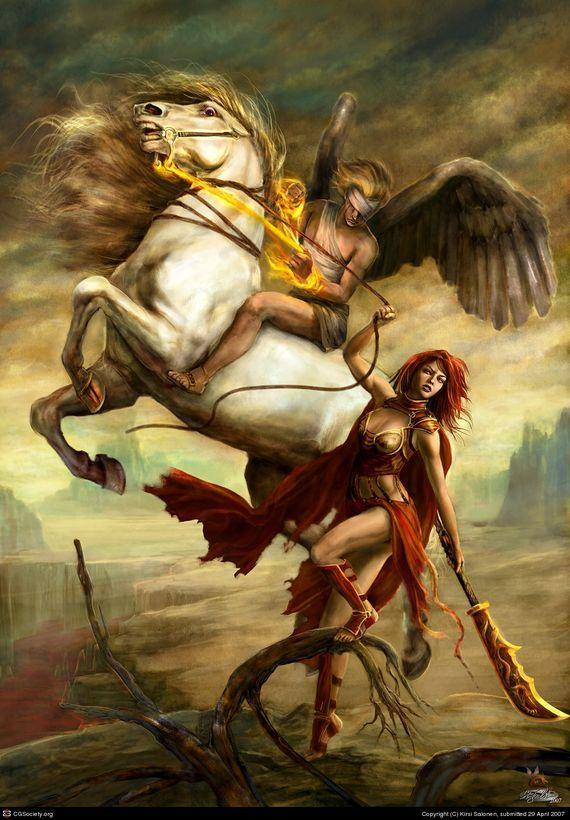 86 best battle between heaven hell images on pinterest for Battle between heaven and hell tattoo